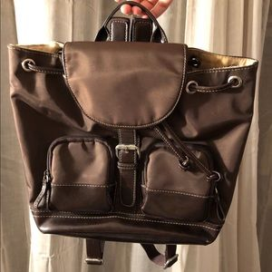 Nine West Bags - Vintage y2k Nylon Brown Backpack